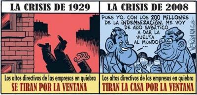 Diferencia entre la crisis de 1929 y la actual