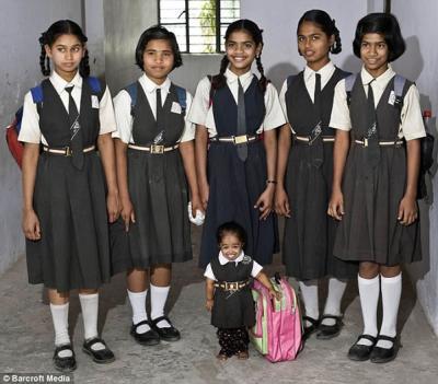 Jyoti, la niña más pequeña del mundo, será grande en TV