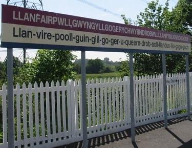 La estación con el nombre mas largo del mundo.